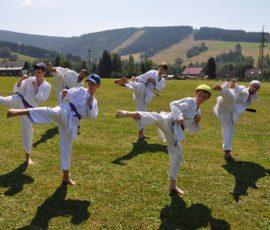 Letní soustředění karate v Deštném 2018