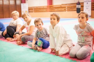 první trénink náboru karate 2018/2019